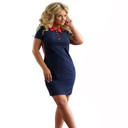 $enCountryForm.capitalKeyWord Australia - Fashion 2019 Women Polo Dress Short Sleeve Summer Elegant Dresses Work Patchwork Female Casual Oversized 6xl Vestidos Polo designer clothes