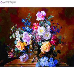 $enCountryForm.capitalKeyWord Australia - Diamond Painting Full Square Round Rose In Bloom Many Flowers In The Vase Daimond Painting Picture Cross Stitch Crystal Zou050