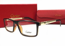 Designer plain glasses online shopping - Designer Sunglasses Frame Luxury Plain Sunglasses Hot Top Style Sunglass for Mens Summer Brand Clear Glass UV400 with Box and Brand Logo