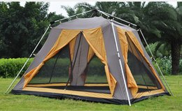 outdoors double layer camping tents NZ - Fully automatic 1hall 2room double layer aluminum pole outdoor family camping tent suitable for 4-5persons 180cm height tent