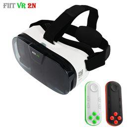 ba7be6cef48 Original Fiit 2N 3D Glasses VR Virtual Reality Box Headset 120 FOV Video  Google Glass Cardboard Helmet For Phone 4-6  + Remote