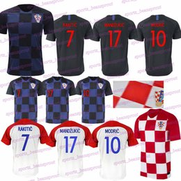 2018 World Cup MODRIC MANDZUKIC RAKITIC Cro Home Soccer Jerseys 2018 World  Cup PERISIC KALINIC KOVACIC Football t shirt 1f7bc77a1