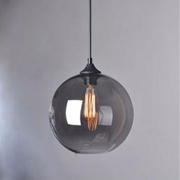 $enCountryForm.capitalKeyWord Australia - Suspension mode Hanging lamp glass ball hanging lights led lamp shades Translucent gray blackish glass lampshades