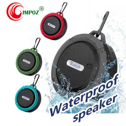 mini bluetooth sport speaker Australia - C6 Bluetooth Speakers IPX7 Outdoor Sports Shower Portable Waterproof Wireless Speaker Suction Cup Handsfree MIC Voice Box DHL colors