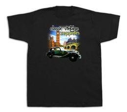 Vintage Car Prints UK - Class Car Vintage Zeppelin Tee Shirt London Scenery Big Ben Tower Bridge UK Print T shirt Men Short Sleeve TOP TEE Fashion