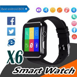 $enCountryForm.capitalKeyWord Australia - Bluetooth Smart Watch X6 E6 Smartwatch sport watch For Apple iPhone ios Android Phone With Camera Support SIM Card smartwatch cellphone
