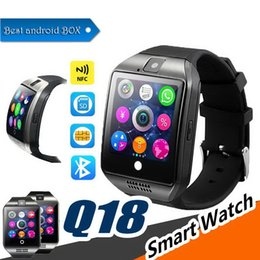 $enCountryForm.capitalKeyWord NZ - Bluetooth Smart Watch Q18 Intelligent Clock For Android Phone With Pedometer Camera SIM Card Whatsapp Call Message Display pk A1