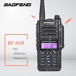 Ham radios online shopping - Baofeng BF A58 Waterproof Walkie Talkie Ham CB Amateur Radio Station Dual Band UHF VHF SDR HF Transceiver Scanner BF A58 PMR