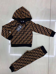 Wholesale wool hooded coat resale online - Newborn Infant Kid Baby Boys Girls Autumn Long Sleeve Hooded Tops Romper Plaid Long Pants Outfits Baby Clothes Set