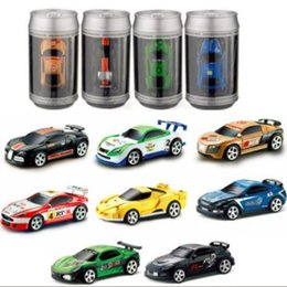$enCountryForm.capitalKeyWord Australia - Coke Can Mini RC Car Radio Remote Control Micro Racing Car 4 Frequencies Toy for Children Green White