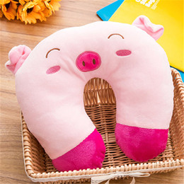 cartoon shaped beds NZ - Pillows U-shape Travel Pillow for Airplane Car New Cartoon Animal Designer Colors Comfortable for Sleep Home Textile Bedding Supplies 2019