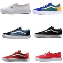Best Canvas Shoes Australia - Best quality Van Old Skool Men Women Casual shoes Running Shoes Yacht Club white black Sneaker Trainer Canvas Sports Jogging Outdoor Shoe
