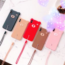 $enCountryForm.capitalKeyWord Australia - Apply the new silicone Apple iPhone exsmax cute protective jacket for iPhone 876 SPLUS mobile phone case Pink coffee Khaki Red Black Brown
