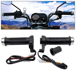$enCountryForm.capitalKeyWord NZ - Freeshipping 12V 22MM Motorcycle Adjustable Temperature Electric Heated Handle with Accelerator Cards Pieces+Three Gears Regulating Switch
