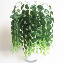 $enCountryForm.capitalKeyWord Australia - Decorations Artificial Plants Artificial Silk bean plant wall Hanging Vine Fake Flowers Flores Rattan with Green Leaves plants For Home W...