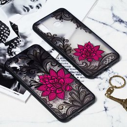 silicone frosted hard case cover 2019 - For Samsung Galaxy A30 A40 A50 A70 M10 M20 S10 PLUS S10E 3D Lotus Flower Matte TPU PC Hard Case Relief Lace Frosted Skin