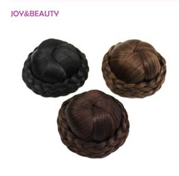 $enCountryForm.capitalKeyWord Australia - Hair Braided Clip In Hair Bun Chignon Hairpiece Donut Roller Bun Hairpiece Hand Knitting braid Synthetic Chignon