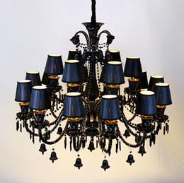 $enCountryForm.capitalKeyWord Australia - Home Antique Black Led Chandelier Lighting For Foyer Dining Room Vintage Candle Chandelier Crystal Hotel Lustre Lighting Sconce