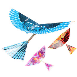 rubber flowers NZ - model Educational Rubber Band Bird plane Jet Glider model airplane Boy's toys learning Extracurricular activitie