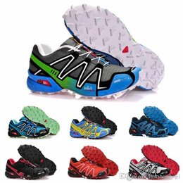 plastic army men UK - 2019 casual Speed cross 3 CS III Running shoes Black Silver red Pink blue men Outdoor SpeedCross 3s Hiking mens sports sneakers 40-46