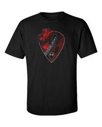 $enCountryForm.capitalKeyWord UK - Guitar Player T-shirt Men's Love Heart Music Musician Guitarist Rock Metal Goth T-shirt Short Sleeve Fashion T Shirt