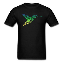 Hummingbird Gifts UK - Hummingbird Ornamental O Neck T Shirt Father Day Tops Tees Short Sleeve Plain Cotton Fabric Gift Sweatshirts Geek Male