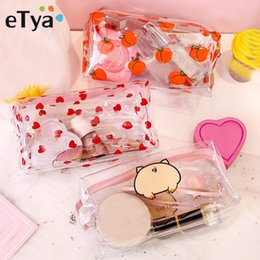 $enCountryForm.capitalKeyWord Australia - Women Transparent PVC Travel Cosmetic Bag Clear Waterproof Zipper Makeup Bag Beauty Organizer Make Up Case Wash Toiletry Bags