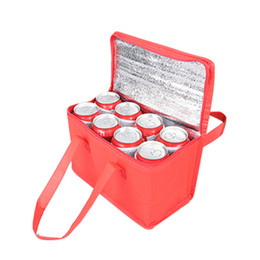 Wholesale Portable Lunch bag Take-out food lunch tote Thermal insulation Sack lunch adhesive bonded fabric color mix red black blue 5 2rg k1
