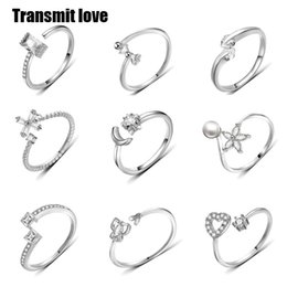 Love Rings Sale Australia - Transmit love Hot sale Lady's fashion wild woman girl rings with zircon exquisite creative jewelry Lovers Silver colour gifts