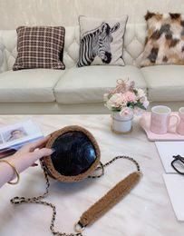 Wool purses online shopping - Brand Designer Wool Stitching Female Shoulder Bags Round Bag Luxury Designer Handbags Famous Designer Women Shoulder Bags Crossbody Purses