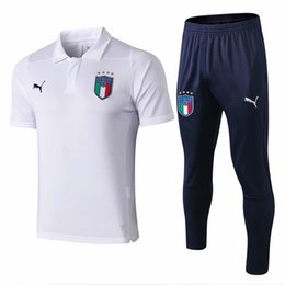 298a6cb294f wholesale new 18 19 Italy white shirt Polo De Rossi tracksuits Balotelli  Barzagli 2018 2019 jacket soccer jerseys Buffon training suits