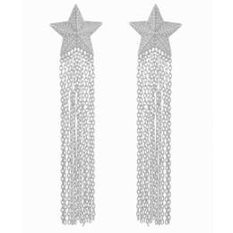 $enCountryForm.capitalKeyWord UK - GODKI 92mm Meter Star Tassel Drops Trendy Cubic Zirconia Women Wedding Party Engagement Dressing Up Earring Jewelry Addiction J190522
