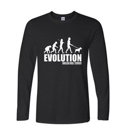 $enCountryForm.capitalKeyWord UK - Various Colors O Neck Long Sleeve Cotton Tops Tshirt Men Clothes Evolution English Bull Terrier Dog Print Funny T Shirt Men