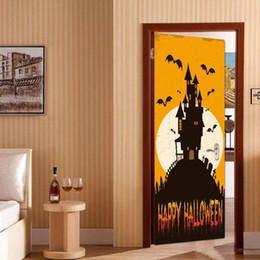 $enCountryForm.capitalKeyWord Australia - 2Pcs Set Stickers Happy Halloween House Decor Window Door Cover Sticker Adesivo De Parede Decoration Decor