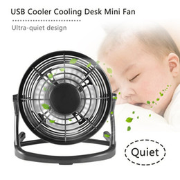 computers keys Canada - Mini USB Fan Cooler Cooling Mini Desk Fan Portable Desk Mini Fan Super Mute Coolerfor Notebook Laptop Computer With key switch