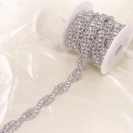 1 Yard silver Crystal Rhinestone Trim Chain by Yard For wedding dress  decorative crystal chain a5bb55c475cb
