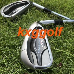 Discount real golf clubs - 2019 original golf irons XR irons steelhead ( 4 5 6 7 8 9 P S A ) with Real dynamic gold S300 shaft 9pcs authentic golf