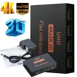 Ultra HD 4 porte HDMI divisore 1x4 HDMI divisore 1 In 4 Out splitter HDMI 4K 1080P 3D per HDTV proiettore in Offerta