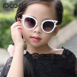 Sun Glasses For Boys NZ - Cat Eye Brand Designer Sunglasses for Children Fashion Girl Boy Cute Sun glass Kids Gradient UV400 Kawaii Lovely Eyewear