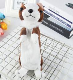 Pet stationery online shopping - Creative Cartoon Plush Toy Pet Dog Styling Pencil Bag Korean Student Pencil Bag Stationery