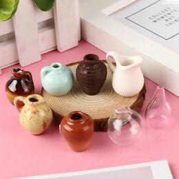 $enCountryForm.capitalKeyWord UK - 1Pcs Mini Ceramics Vase Fridge Magnet DIY Porcelain Vase Refrigerator Magnet Message Sticker Green Plant on Kitchen Gift