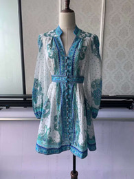 Wholesale star puff online – oversize European and American stars with the same paragraph palace style pure linen dress