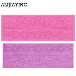 Silicone lace for cake online shopping - M0361 Lace flower pattern border Silicone Mold Cake Decorating Tools Baking Tools For Fondant Cakes Wedding