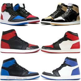 Box Spiders Australia - With Box Top Quality 1 Banned Bred Toe Spider-Man UNC 1s top 3 Mens Basketball Shoes Homage To Home Royal Blue Men Sports Designer Sneakers