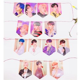 Hd Connectors Australia - BTS Map of The Soul: Persona Paper Flag Poster Bangtan Boys New Alubm HD Hang up Pictures Jungkook Suga Jimin Photocard Army Gift
