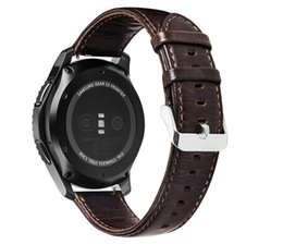 $enCountryForm.capitalKeyWord UK - watchband for Samsung Galaxy Gear S2 S3 Frontier Classic Galaxy Watch 42mm 46mm Genuine Leather Loop strap for Huami Amazfit 20m 22mm Band