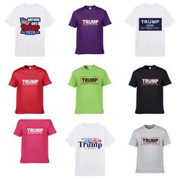 embroid tee Canada - 2020 Designer Brand Men Trump T-Shirt Clothing Letter Embroid Cat Paillette Sequin Tshirt Tees Cotton Women Casual Tops Shirts #984