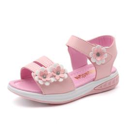14d10c5e9c8 Girls Flower Sandals Children Beach Slippers Shoes Style Kids  Slip-Resistant Sandals Girls Princess Roman Shoes
