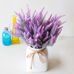 lavender home decor NZ - Simulated Lavender Artificial Flower Pot Arrangement for Home Garden Decor WXV Sale