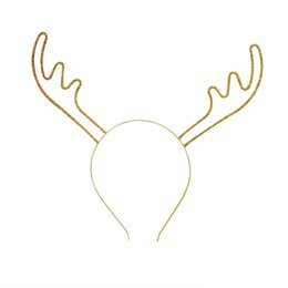9bc821e1318d4 1pc Christmas Glitter Deer Antler Headband Adornment Costume Cosplay Party  Novelty Hair Hoop Headware Hair Accessories